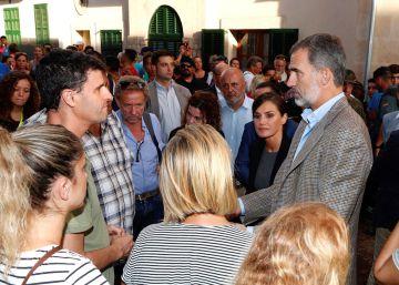 Los Reyes visitan Sant Llorenç, zona cero de las inundaciones de Mallorca