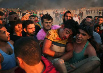 Siete palestinos muertos durante las protestas de la Gran Marcha del Retorno, en imágenes