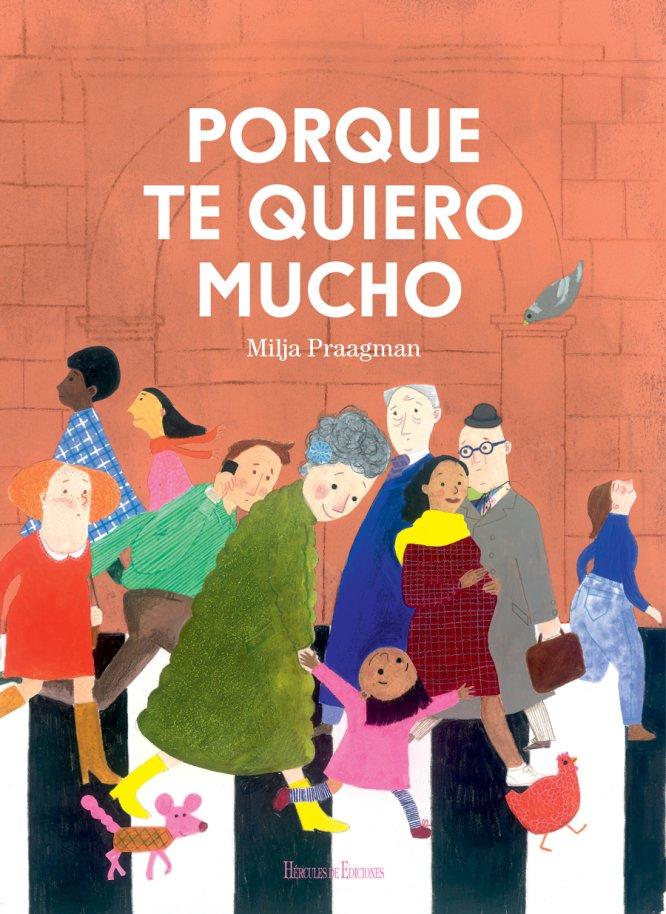 """La abuela se va de paseo con Ibi. Viajan en metro, ven mucha gente, van a un museo, pasean por el parque... Ibi ve el mundo como si fuera la primera vez y se fija en los detalles. Su abuela solo ve a su nieta. Ella es su mundo. """"Porque te quiero mucho"""" de Milka Praagman realza la figura de los abuelos y del papel tan importante que desempeñan hoy en día, además de mostrar a los niños sutilmente que se preocupan por ellos y pueden confiar en ellos."""