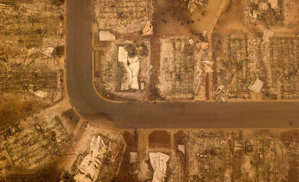 Los estragos de Camp Fire en Paradise California.