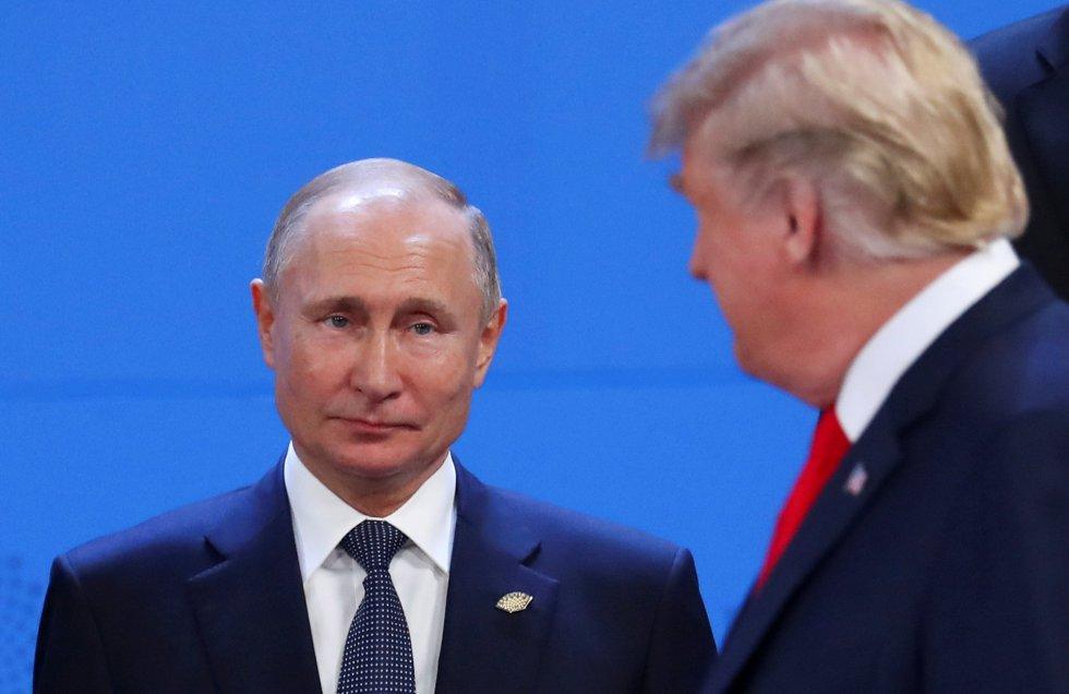 Vladimir Putin y Donald Trump en un momento del primer día de reunión del G20.