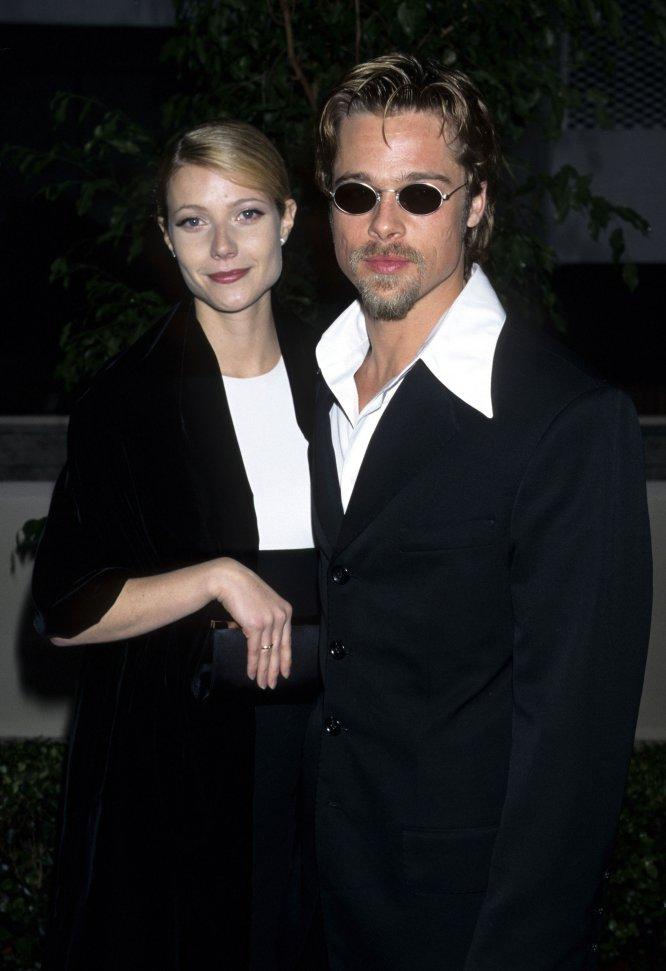 Gwyneth Paltrow y Brad Pitt en 1996. La pareja se había conocido el año anterior en el rodaje de 'Seven' y salieron juntos durante dos años.
