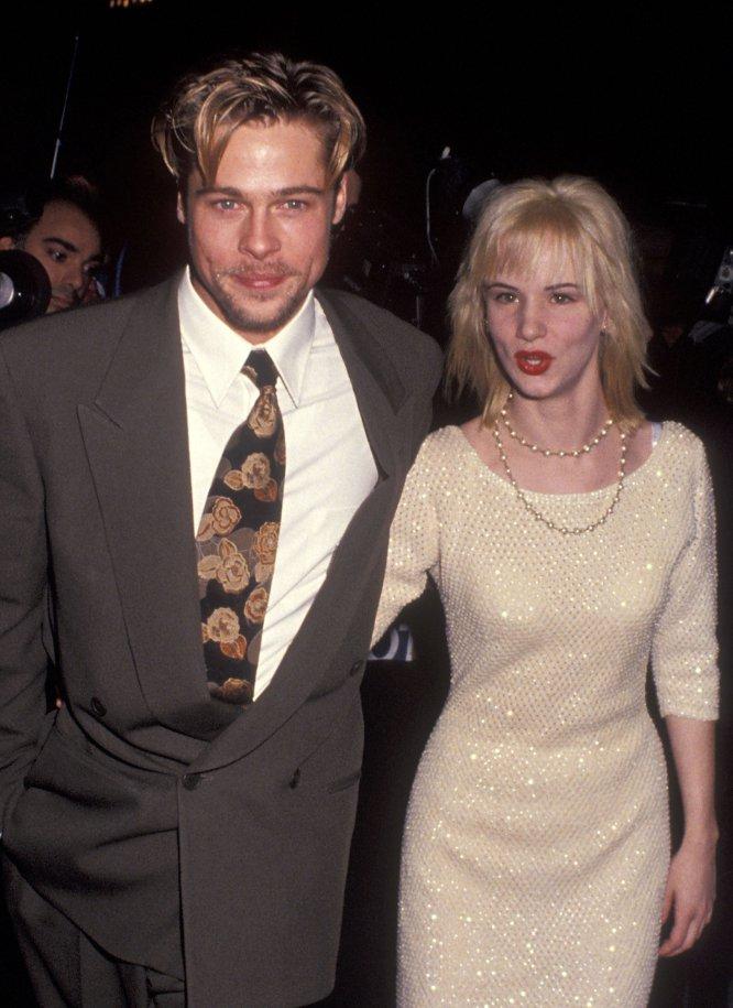 Brad Pitt y Juliette Lewis en el estreno de 'El cabo del miedo' en noviembre de 1991, en el teatro Ziegfeld de Nueva York.