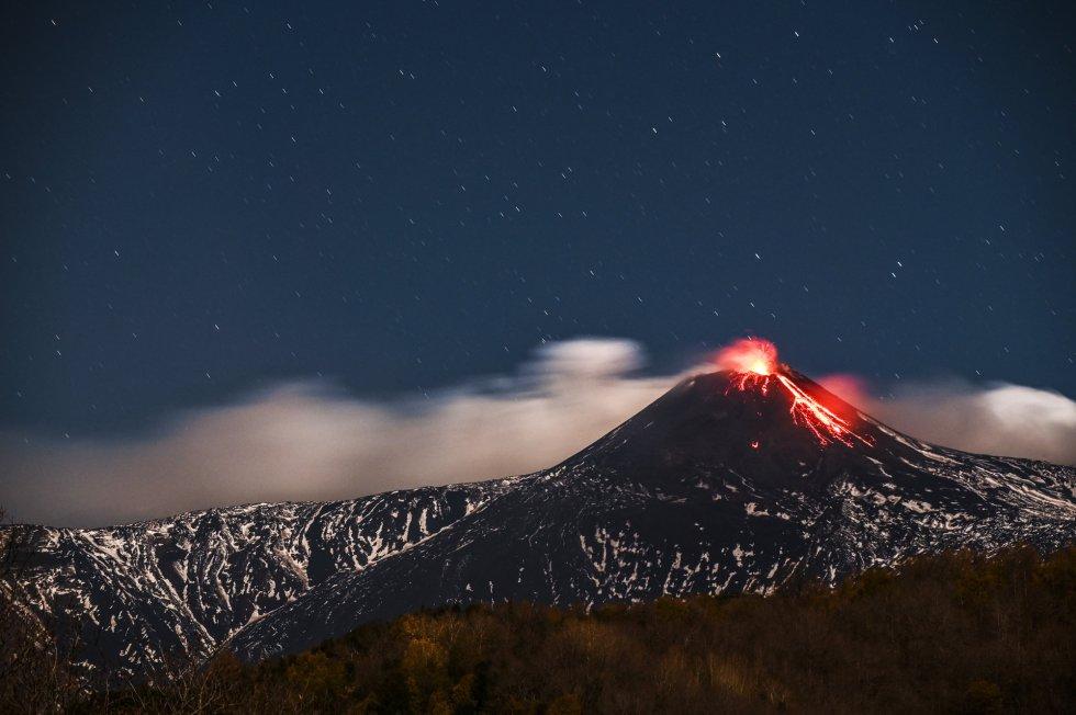 Imagen del la zona sureste del cráter del Etna.