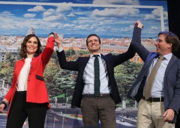 Díaz Ayuso y Martínez-Almeida, los candidatos del nuevo PP en Madrid defienden el pasado del partido