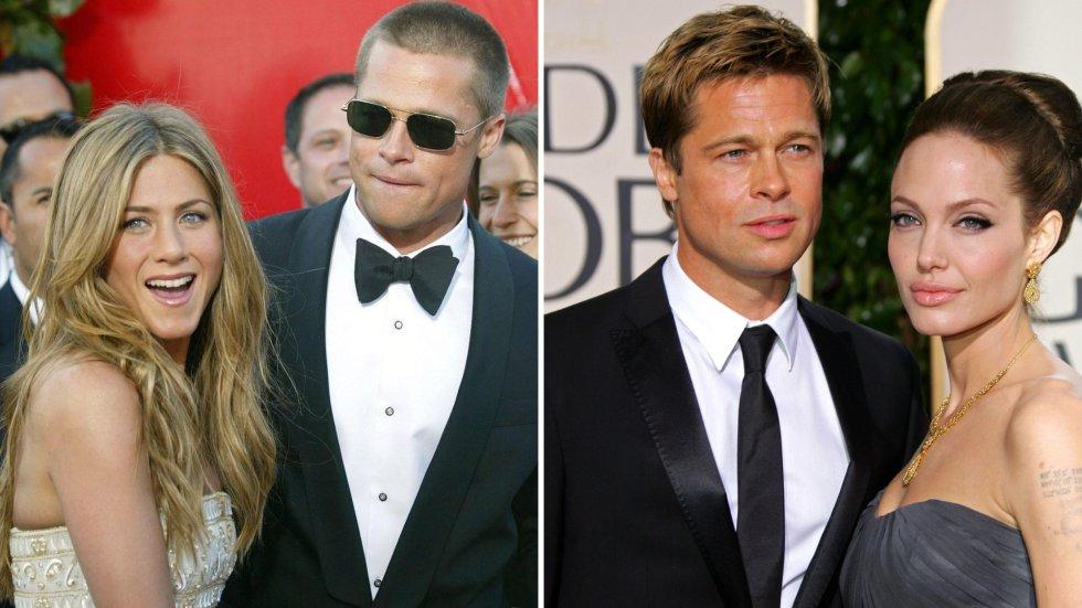 Quizás este es el triángulo amoroso más conocido de Hollywood. Brad Pitt y Jennifer Aniston eran la pareja de oro de la meca del cine y por eso fue toda una sorpresa cuando anunciaron su separación en 2005. En ese momento Pitt estaba trabajando con Angelina Jolie en la película 'Sr. y Sra. Smith', lo cual despertó todas las alarmas de una posible infidelidad. Poco después Pitt y Jolie confirmaron su relación y en 2014 contrajeron matrimonio. Solo dos años después, la actriz solicitó el divorcio y actualmente se encuentran en una batalla legal por la custodia de sus seis hijos.