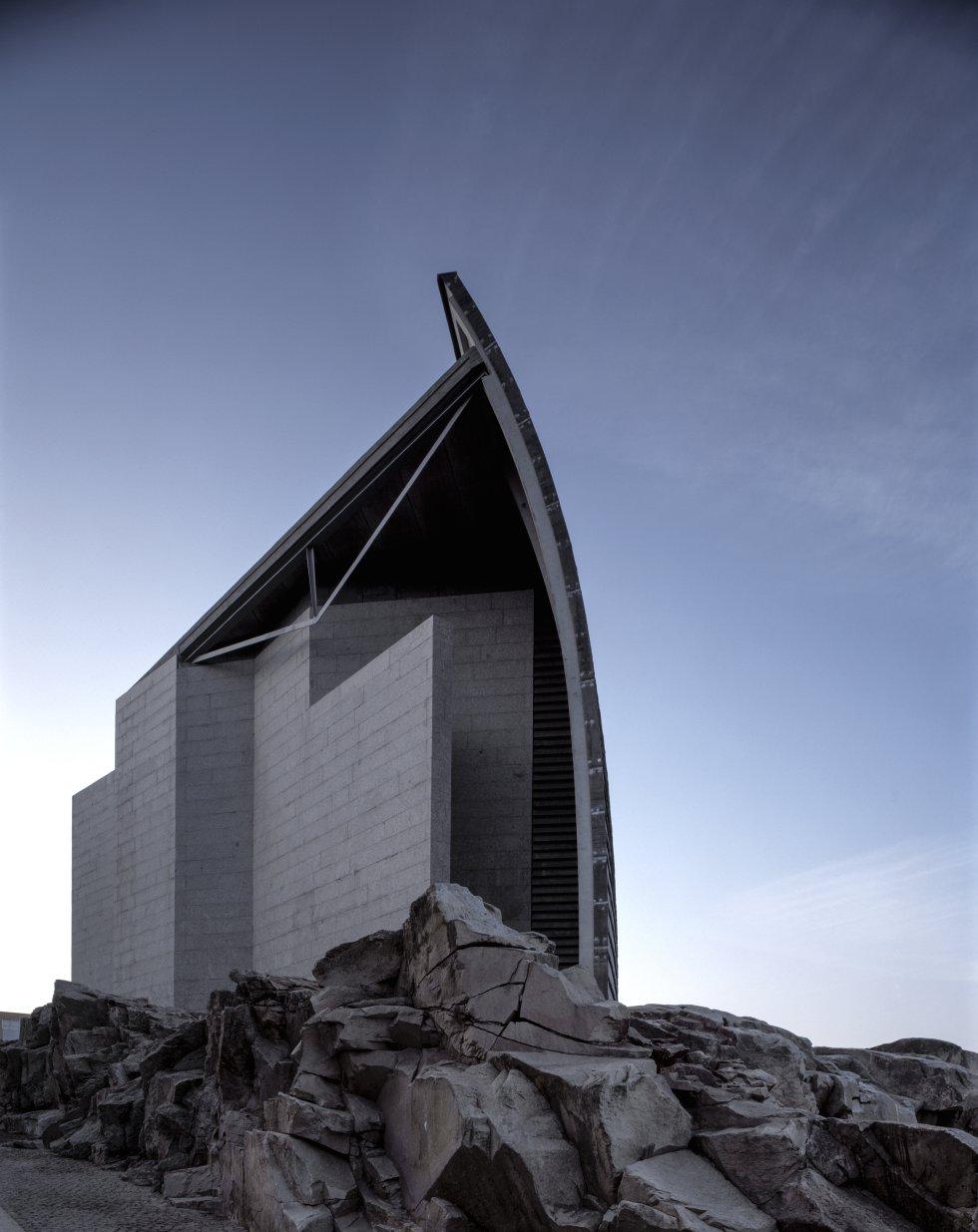 Vista del edificio del Museo La Domus de A Coruña.