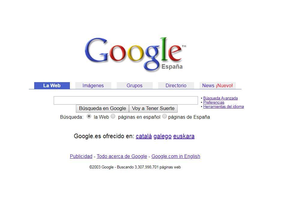 Google nació de la colaboración de dos estudiantes de posgrado de Stanford en 1996, Larry Page y Sergey Brin. Desde su lanzamiento, su trabajada mínima página blanca con una ranura para la búsqueda ha sido la ventana a internet para millones de personas.