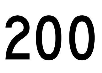 El número 200
