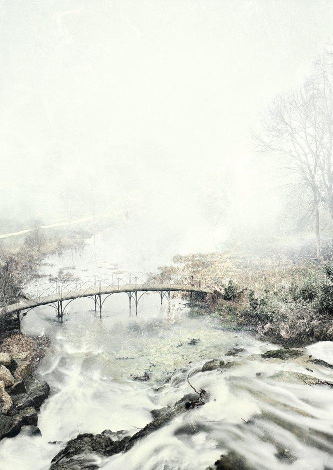 Cascata em Bienheim, Inglaterra.