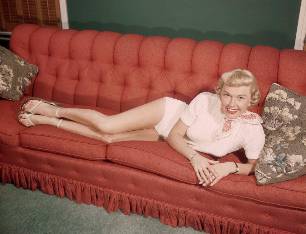 Un retrato de la actriz Doris Day en 1945.