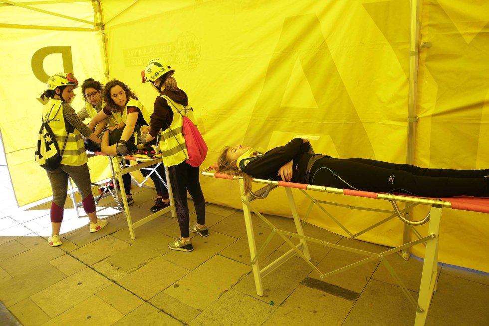 Un total de 90 enfermeras se han desplazado al lugar del incendio para atender a los heridos.