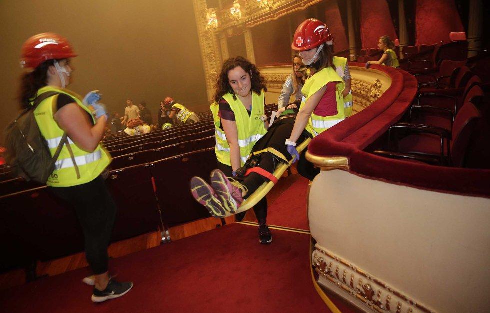 La realización de ejercicios prácticos de emergencias es una actividad que el Colegio de Enfermería de Gipuzkoa realiza durante el curso desde hace más de 18 años.
