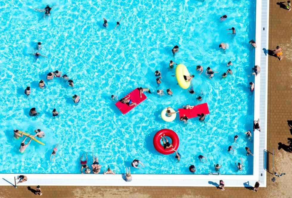 Una piscina en Hannover, al oeste de Alemania, este martes.