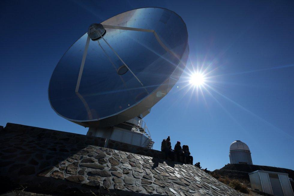 Vista de una antena del observatorio de La Silla, situado en la región de Coquimbo (Chile).