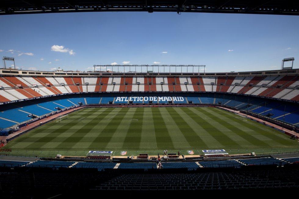 Vista del Estadio Vicente Calderón, sede del Atlético de Madrid, 19 de mayo de 2017.
