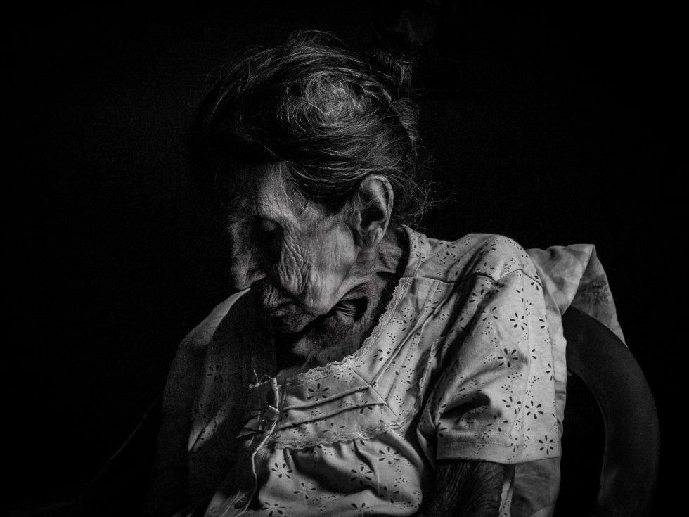 Doña Anita, de 108 años de edad, anciana de la comunidad Nicaragua Libre en Diriomo.