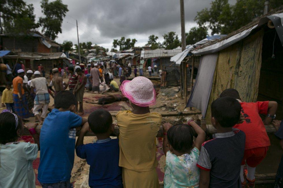 Naciones Unidas estima que Bangladesh alberga a casi un millón de refugiados rohingyas, de los cuales más de 700.000 llegaron tras la ola represiva lanzada por las fuerzas birmanas en agosto de 2017 en el estado de Rajine.