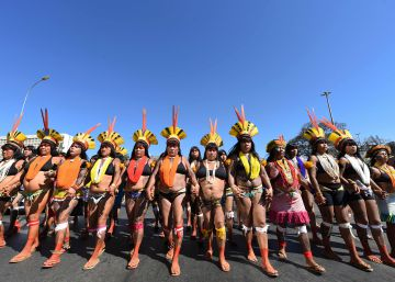 Los indígenas brasileños se movilizan contra Bolsonaro