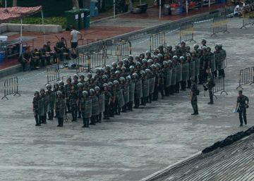 Los ejercicios antidisturbios de China