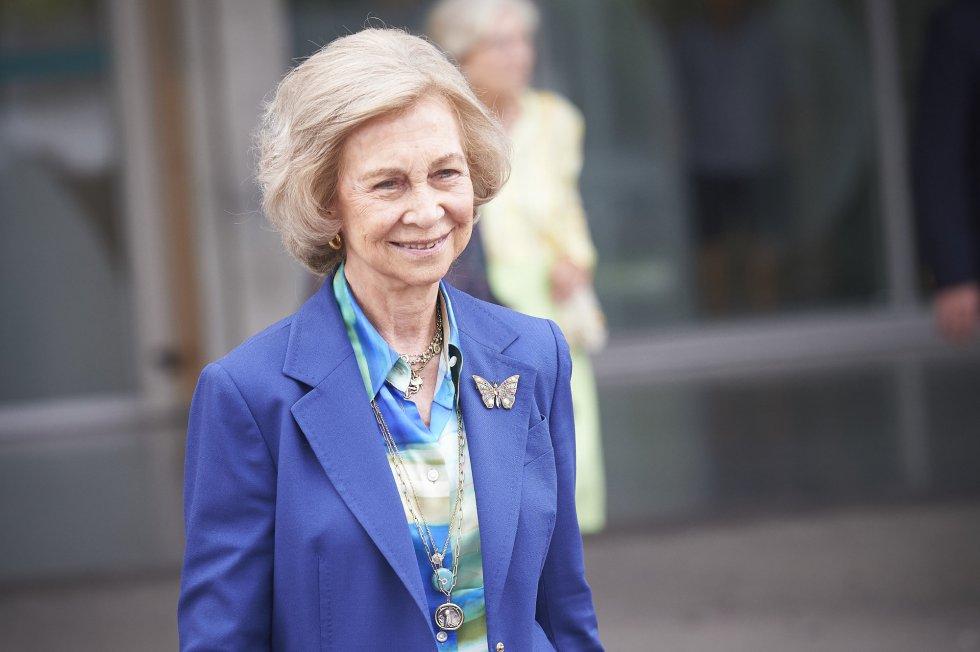 """La reina Sofía también destacó el pasado domingo, tras visitarle por la mañana, su sentido del humor: """"Nunca lo pierde""""."""