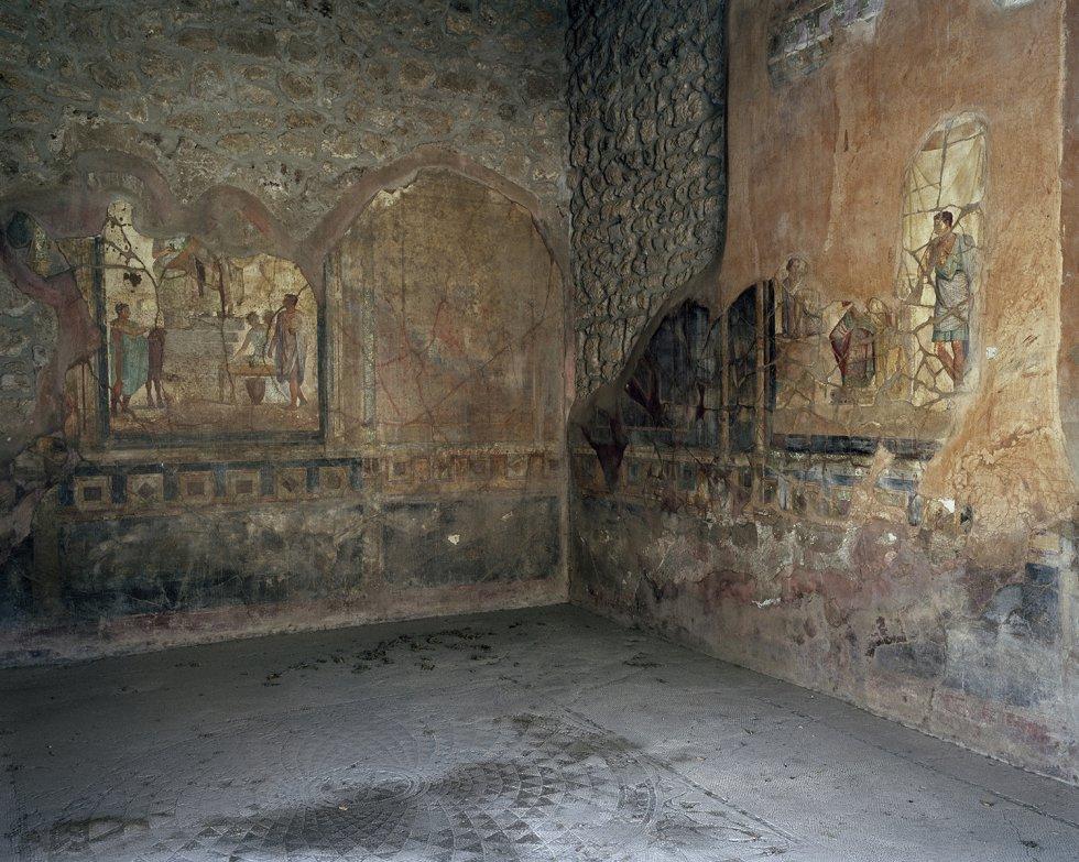 Casa dos Querubins Dourados em Pompeia, na Itália. Acredita-se que pode ter sido da segunda mulher do imperador Nero.