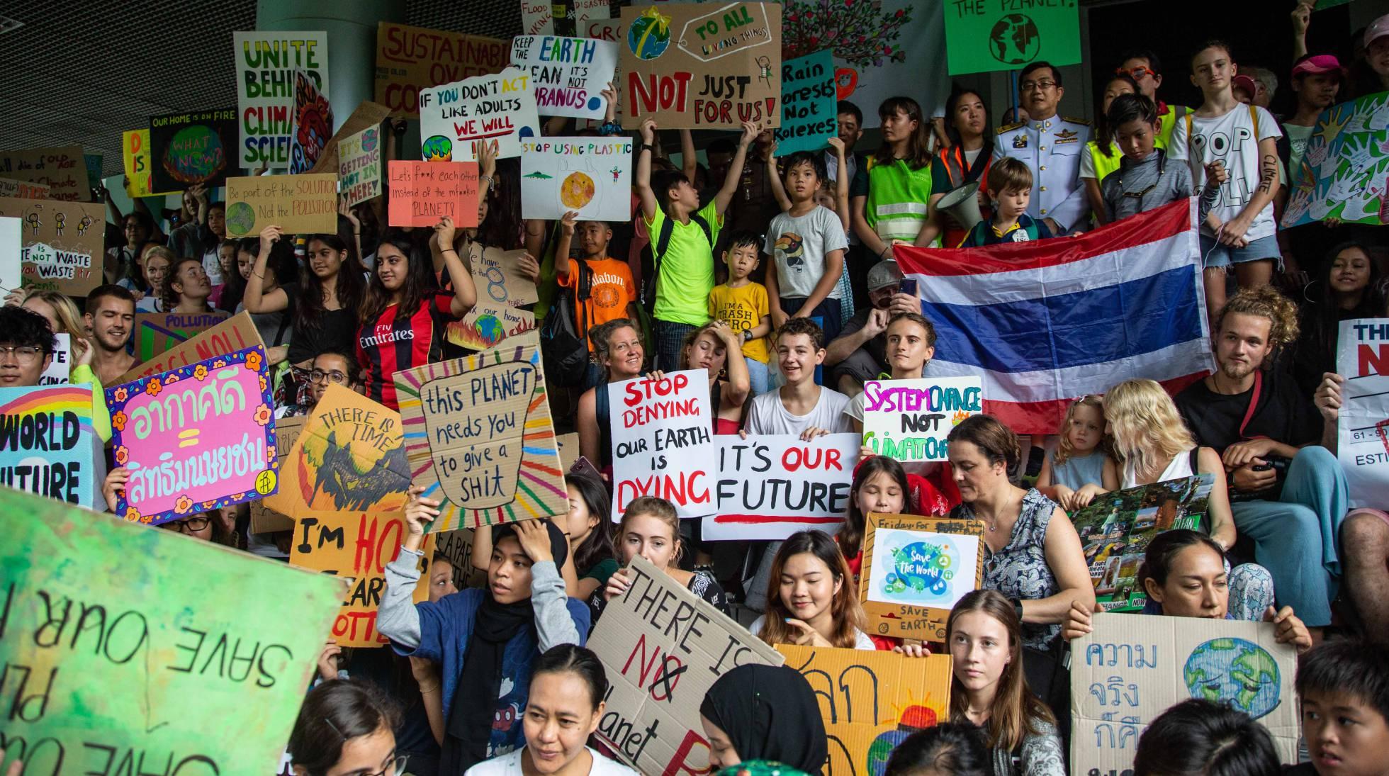 La manifestación mundial contra el cambio climático, en imágenes