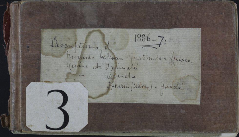 """A página 12 do diário de Maudslay. O ano da fotografia data de 1886. O presidente do conselho de administração do Museu Britânico, Sir Richard Lambert, disse que dos """"oito milhões de peças que compõem as coleções do centro, todos têm uma história por trás""""."""