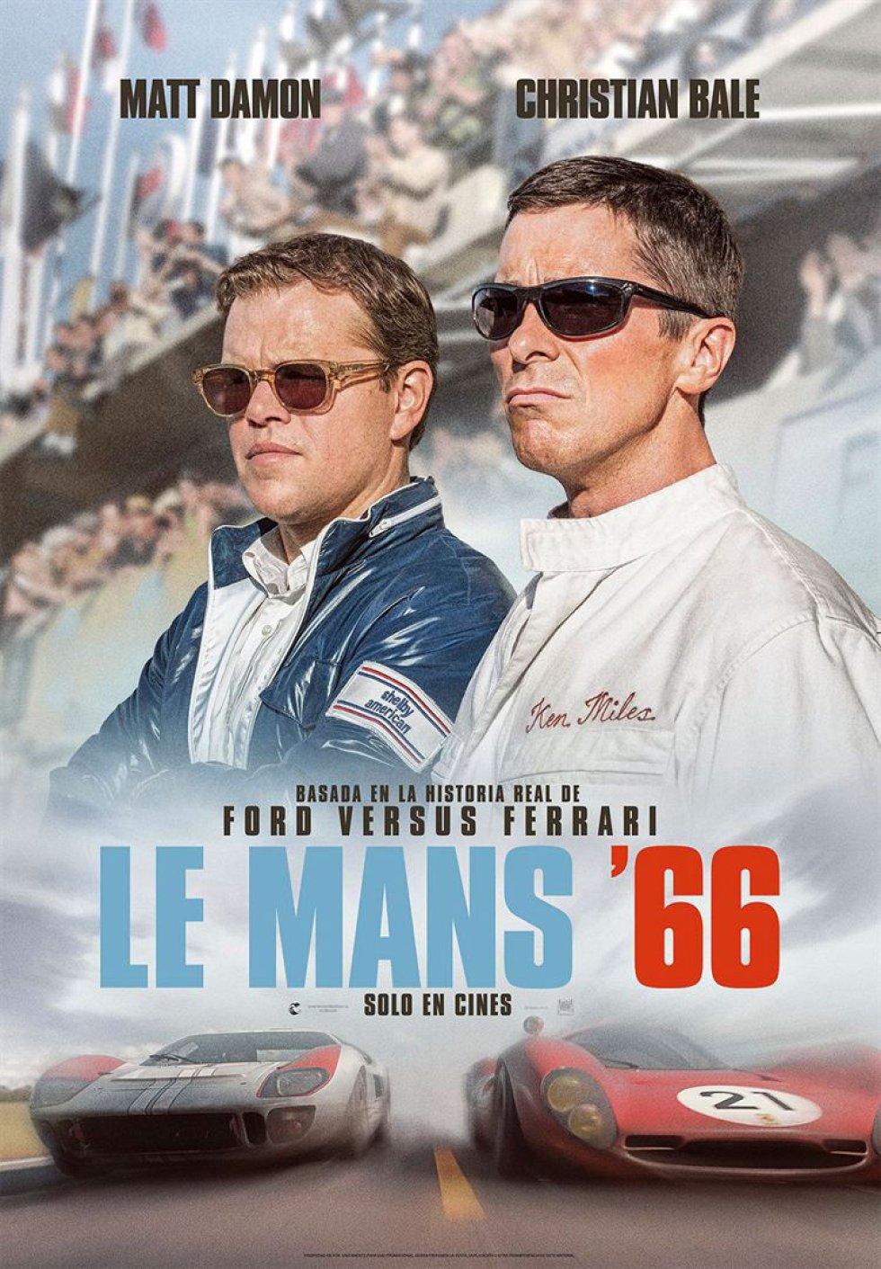 'Le Mans' 66' opta a cuatro estatuillas, entre ellas la de mejor película. Dirigida por James Mangold y basada en la gesta de un piloto, Ken Miles, y de una marca, Ford, en la mítica carrera automovilística francesa de aquel año.