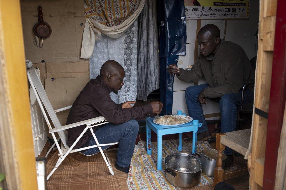 Campamento de inmigrantes en Lepe