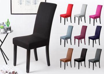 Cuida y decora las sillas de casa con las fundas elásticas multicolores más vendidas en Amazon