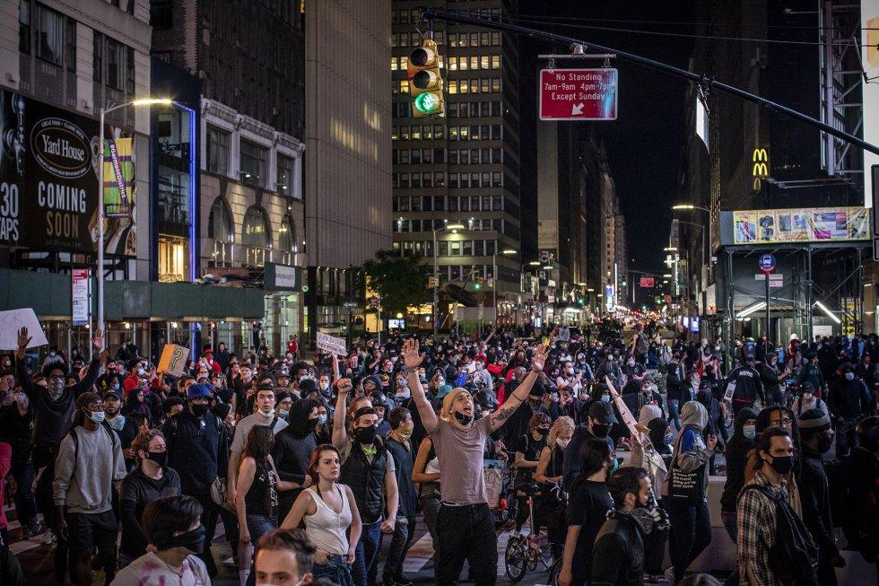 Sino de la protesta pacífica e imparable de la inmensa mayoría de los estadounidenses contra el racismo intolerable.