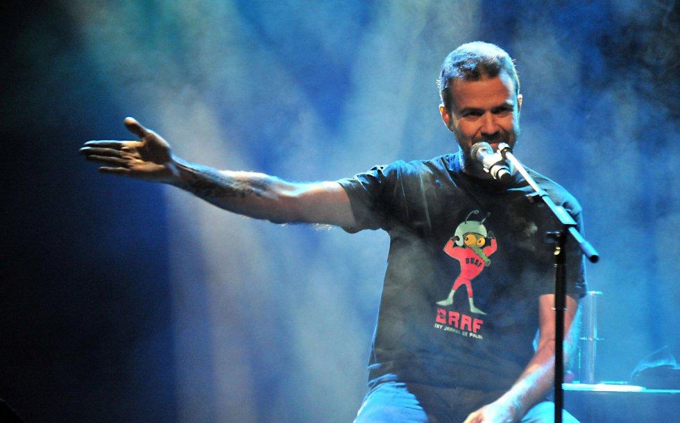 Pau Donés, vocalista de Jarabe de Palo, durante un concierto en 2015.