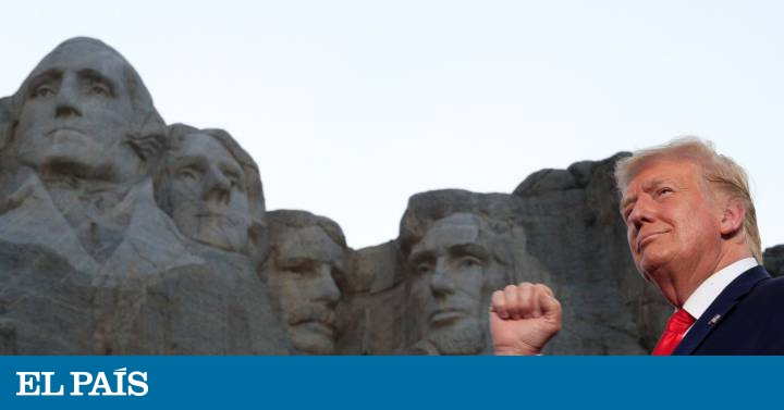 La visita de Donald Trump al monte Rushmore, en imágenes