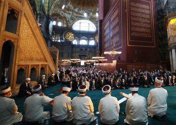 La apertura de Santa Sofía como mezquita, en imágenes