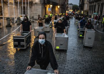 Alerta Roja, el mundo del espectáculo se moviliza por la crisis del sector, en imágenes