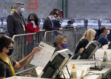 El escrutinio de las elecciones presidenciales en Estados Unidos, en imágenes