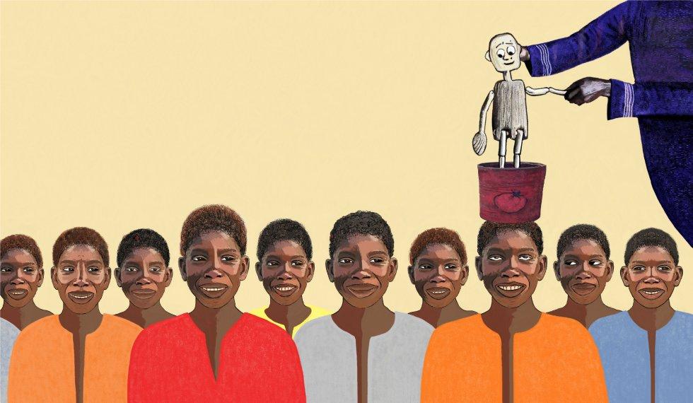 El libro 'Petit bout de bois' (Pequeño trozo de madera) recoge el argumento de un espectáculo de teatro escrito e interpretado por Patricia Gomis, e ilustrado por DAUD. Son las historias de pequeños talibés, niños en situación de calle, privados de sus derechos más básicos, que sobreviven gracias a su creatividad. Porque, a pesar de todo, no pierden la esperanza de ver sus sueños hechos realidad. Reproducimos algunos fragmentos del libro editado en francés por Lansman Editeur.