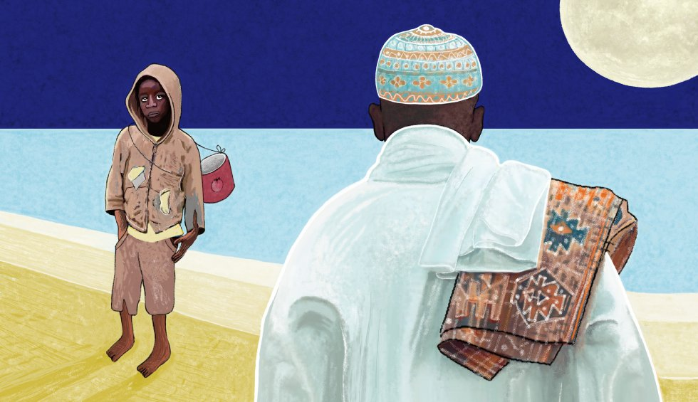 """Hoy, las daaras están creciendo en cada rincón. Con talibés que vienen del norte, del sur, centro e incluso de países vecinos, muchas veces acompañados de falsos 'morabitos'. Los talibés mendigos son tan numerosos como las hormigas. Parece que solo en Senegal hay 30.000. En los periódicos, hemos leído en los últimos años: """"Nueve niños talibés son quemados en su daraa en la medina"""". """"Un talibé golpeado hasta la muerte por su marabú"""".    Y también: """"Una veintena de niños talibés de seis a 14 años han sido encontrados encadenados con hierros en los pies, como en el templo de la esclavitud"""". Sin mencionar los abusos."""