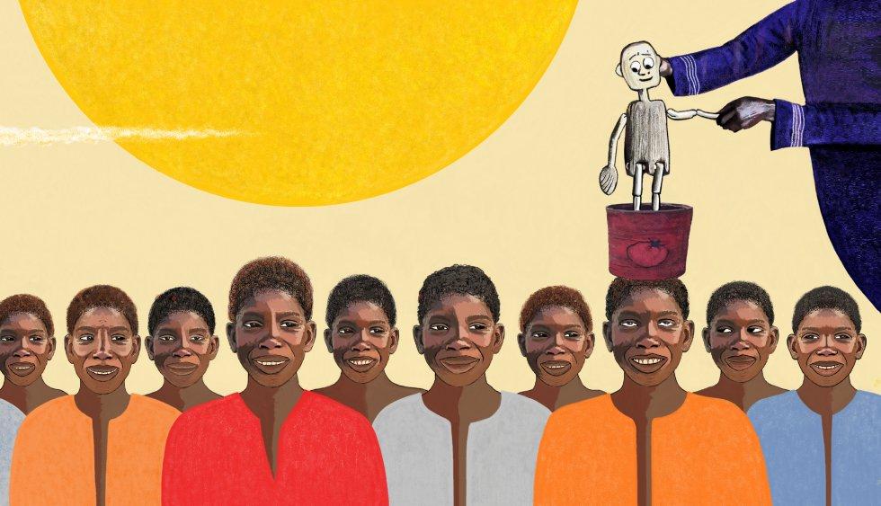 Patricia Gomis Mamby Karowar es una actriz y comediante comprometida, que eligió hacer teatro para el público infantil y juvenil. Forma parte de los fundadores y creadores de Côté Jardin, la primera compañía de clown nacida en Senegal. Es directora artística de Pôle Culturel Djaramà, un centro artístico para niños y jóvenes en Senegal que creó conjuntamente con su marido. Ha co-escrito diferentes espectáculos como '¡Avanti!', con Gérard Corbion, de la Compañía Casquette, Jeannine Gretler de la Compañia Orange Sanguine y Pierre Richards; 'Moi, monsieur, moi', con Márcia de Castro. 'Petits bouts de bois' es su primer texto (escrito en noviembre de 2018).