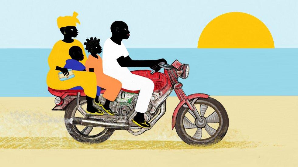 Ahora ya no podemos ir a la playa, están cerradas al público. Y mi papá tuvo que vender la moto para pagar el alquiler de la casa y alimentar a toda la familia. Mis padres se quedaron sin trabajo. Y mi hermano y yo estudiamos desde casa, porque cerraron las escuelas. Esta epidemia lo ha cambiado todo.