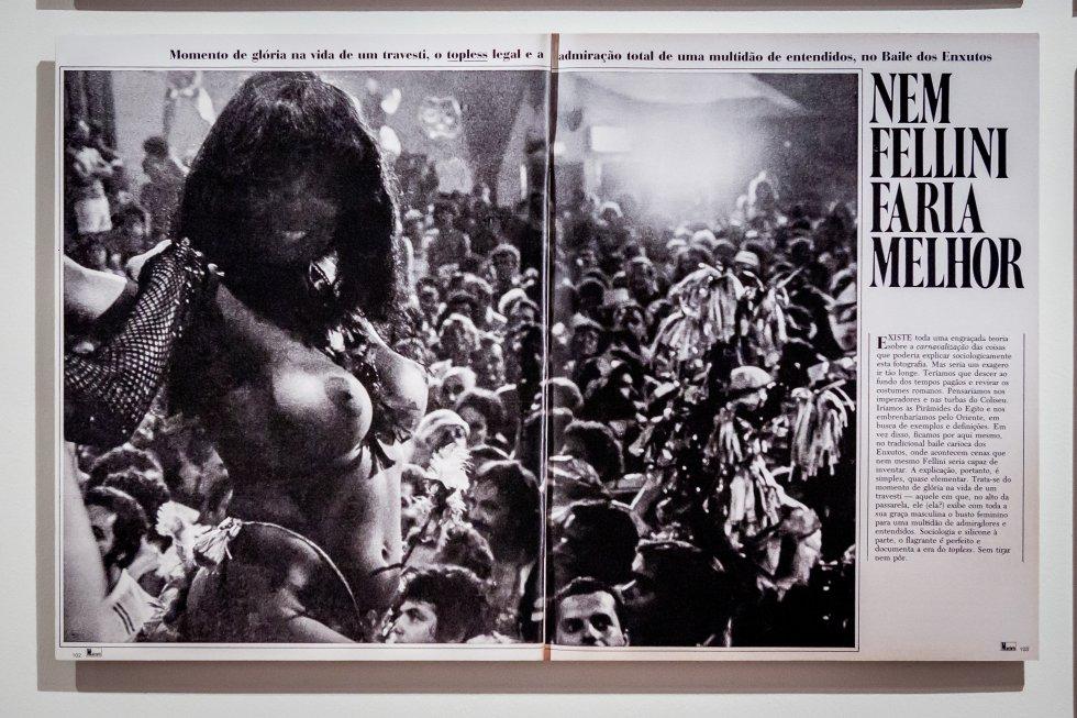 Una de las publicaciones brasileñas incluidas en la exposición sobre Madalena Schwartz para explicar el contexto histórico, cultural y político en el que la fotógrafa alumbró su serie de retratos de travestis y transformistas.