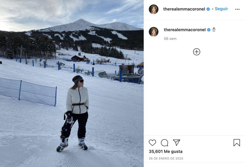 Emma Coronel, en una fotografía publicada en su cuenta de Instagram en enero del 2020.