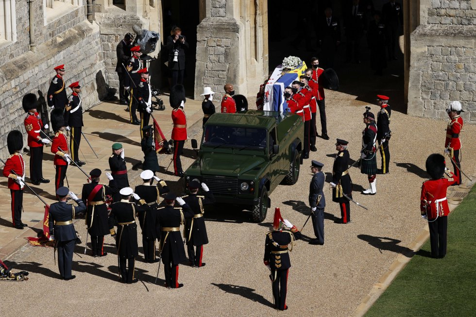 El Land Rover que llevó los restos del duque fue diseñado por él.