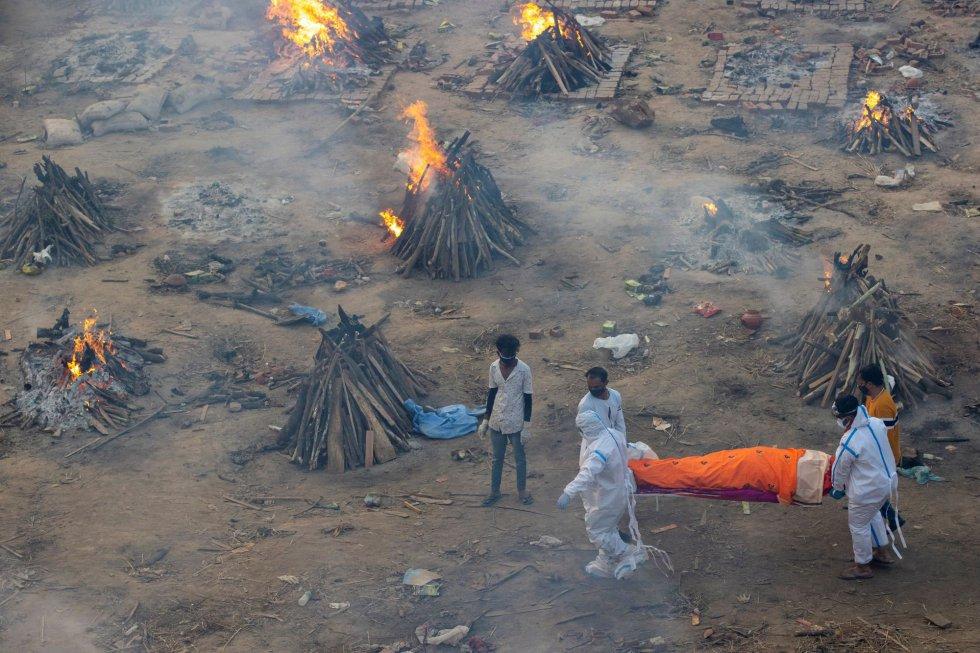 India en caos por covid
