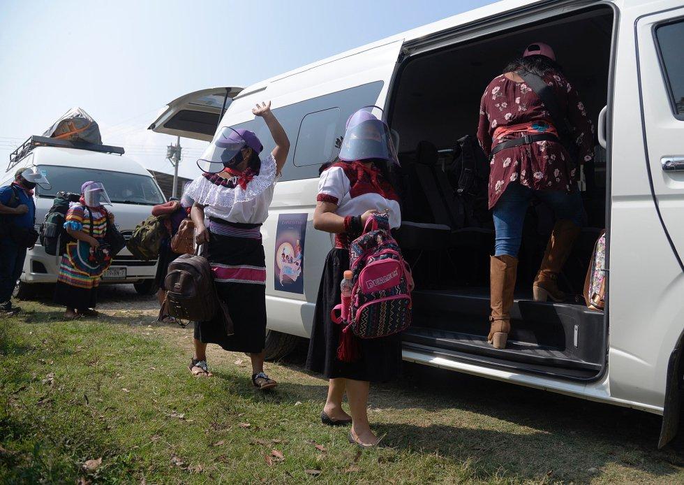 La comitiva ha pasado los últimos 15 días aislada, según ha informado el EZLN, para asegurarse de que ninguno de los siete integrantes esté contagiado de covid-19.
