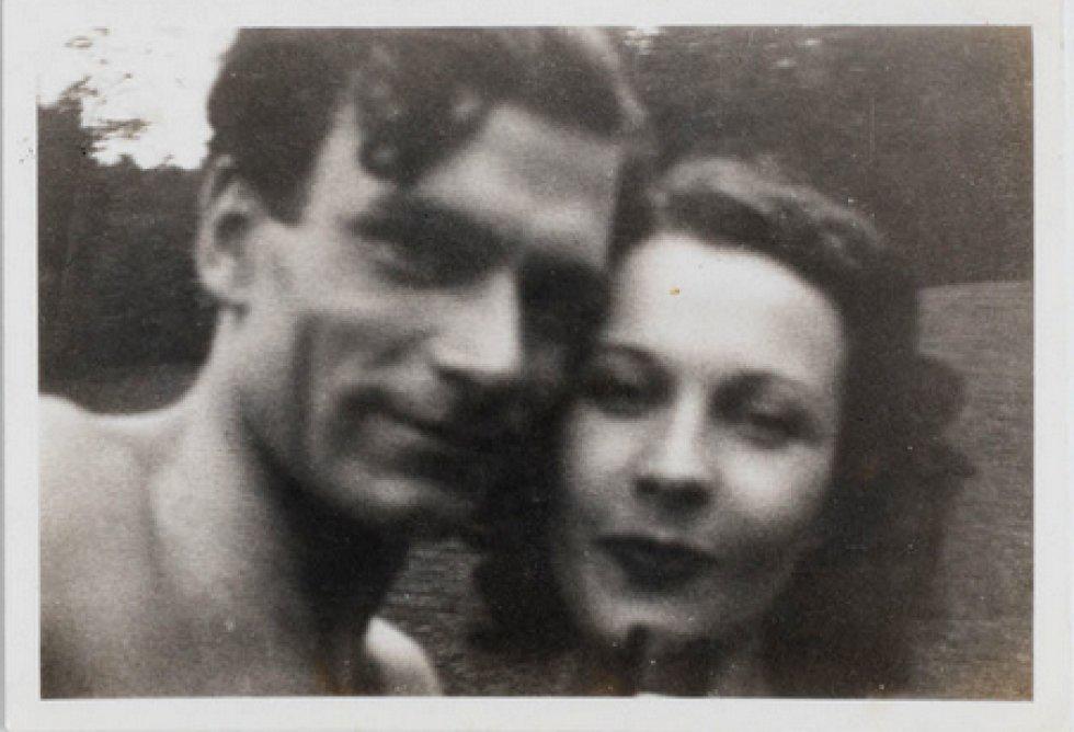 Vivien Leigh y Laurence Olivier en su luna de miel en 1940.