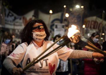 Las enfermeras en Argentina reclaman mejores condiciones de trabajo