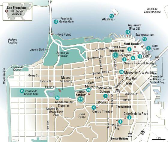 Mapa Turistico San Francisco.24 Horas En San Francisco El Mapa El Viajero El Pais