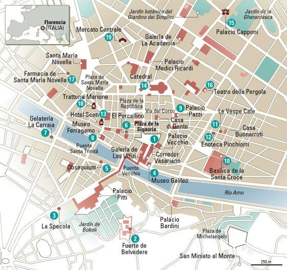 24 horas en Florencia el mapa  El Viajero  EL PAS